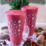 Christmas Spiced Cranberry Smoothie title picture