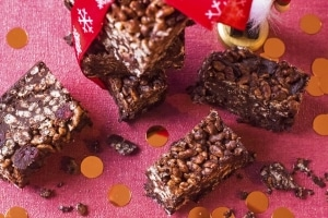 Landscape shot of Festive Chocolate Crunch Bars