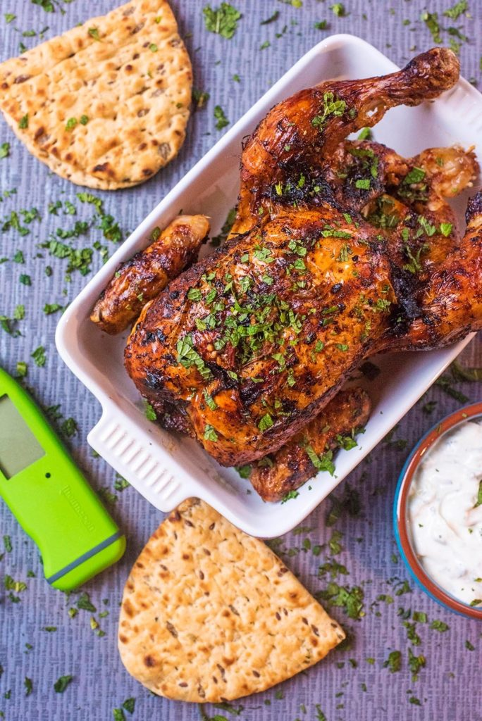 Harissa Roasted Chicken with Thermapen