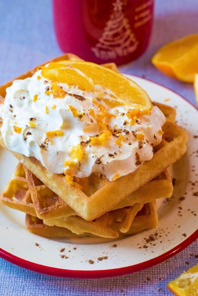 Spiced Orange Waffles