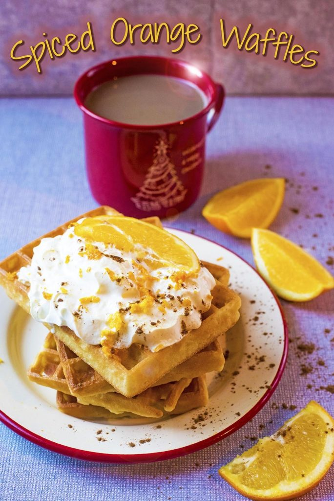Spiced Orange Waffles title picture