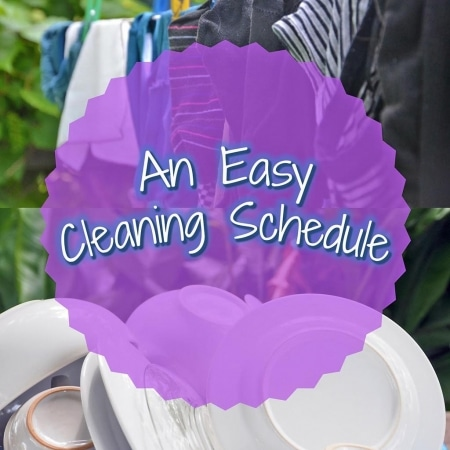 An Easy Cleaning Schedule title picture