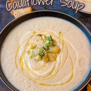Creamy Roasted Cauliflower Soup title picture