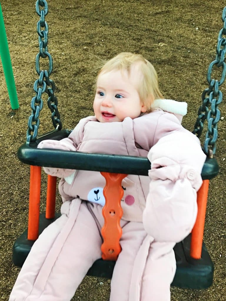 Avery on a swing