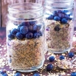 Portrait shot of Blueberry Muffin Overnight Oats