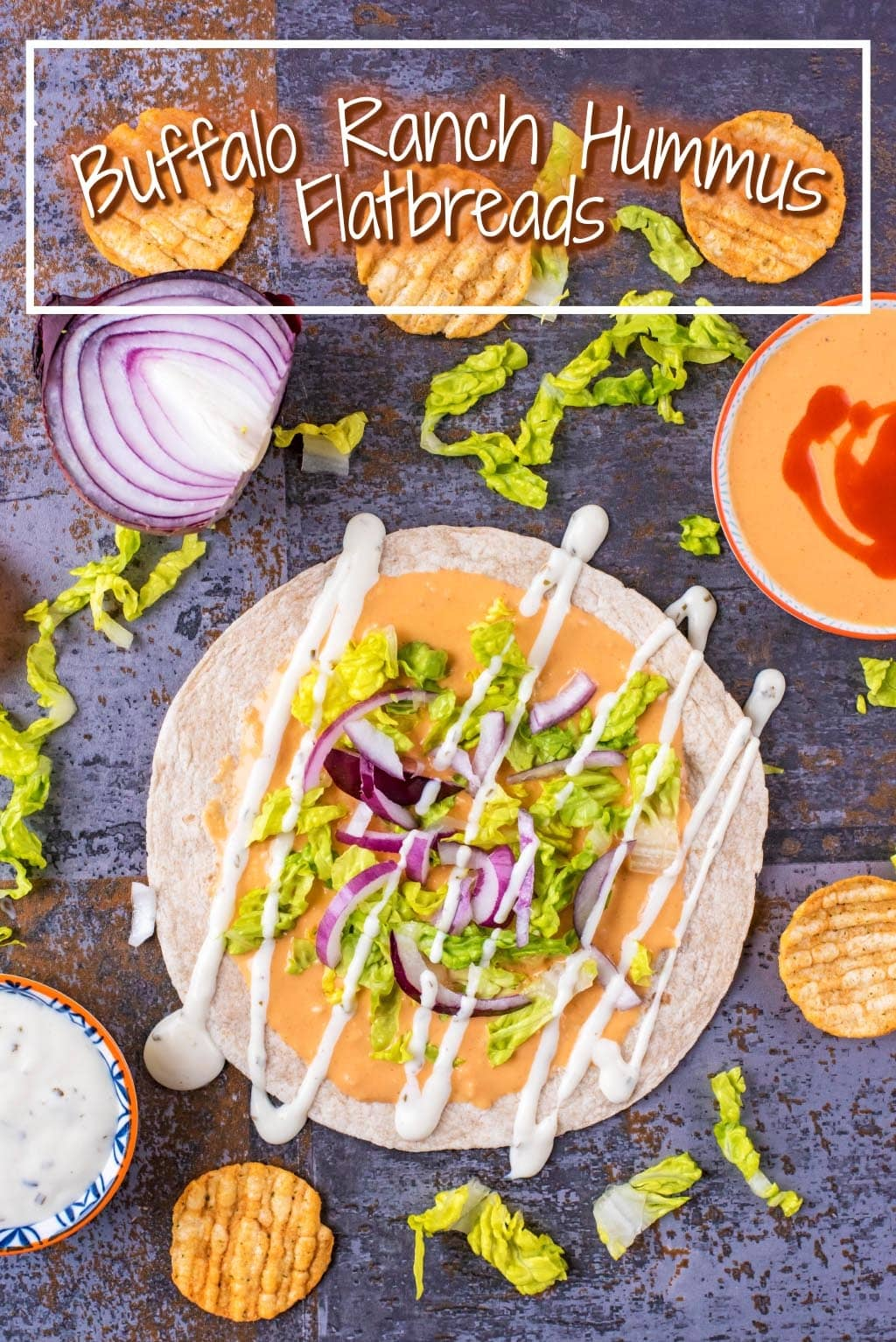 Buffalo Ranch Hummus Flatbreads title picture