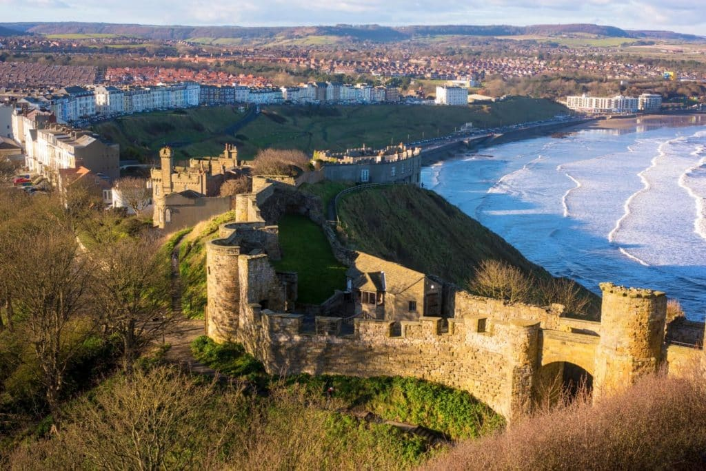 Scarborough Castle from high up