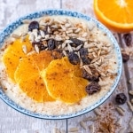 Horizontal shot of Spiced Orange Porridge