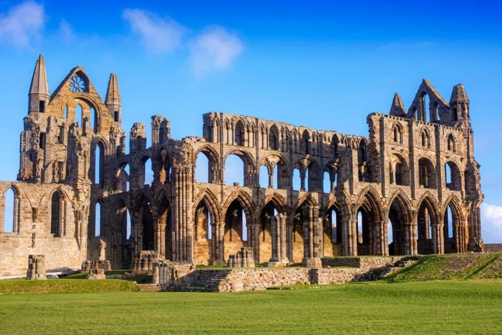 Horizontal shot of Whitby Abbey