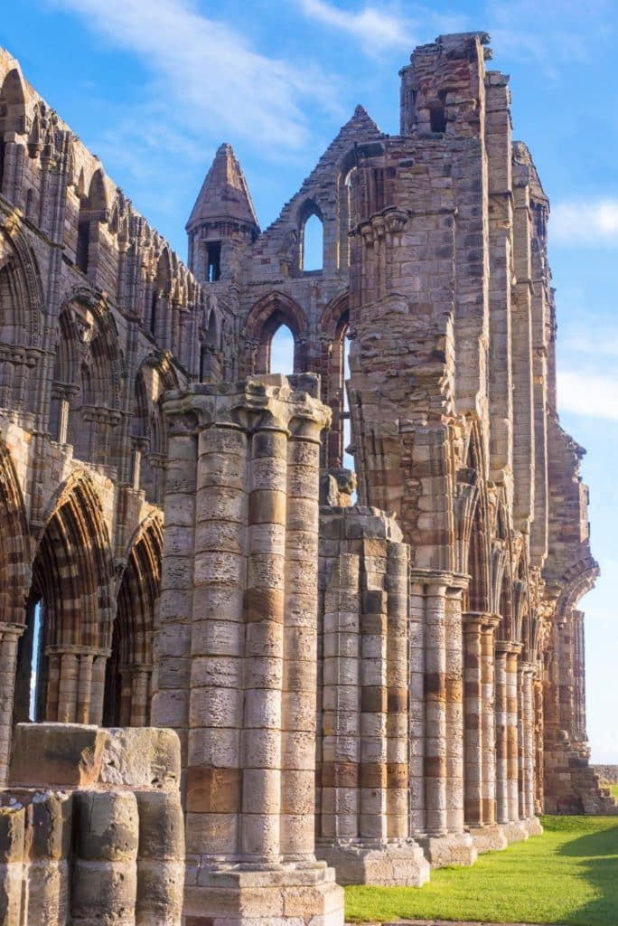 Close up of Whitby Abbey