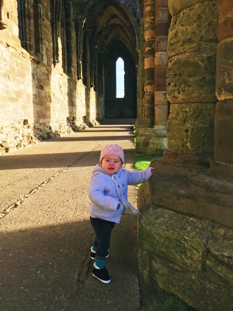 Avery at Whitby Abbey