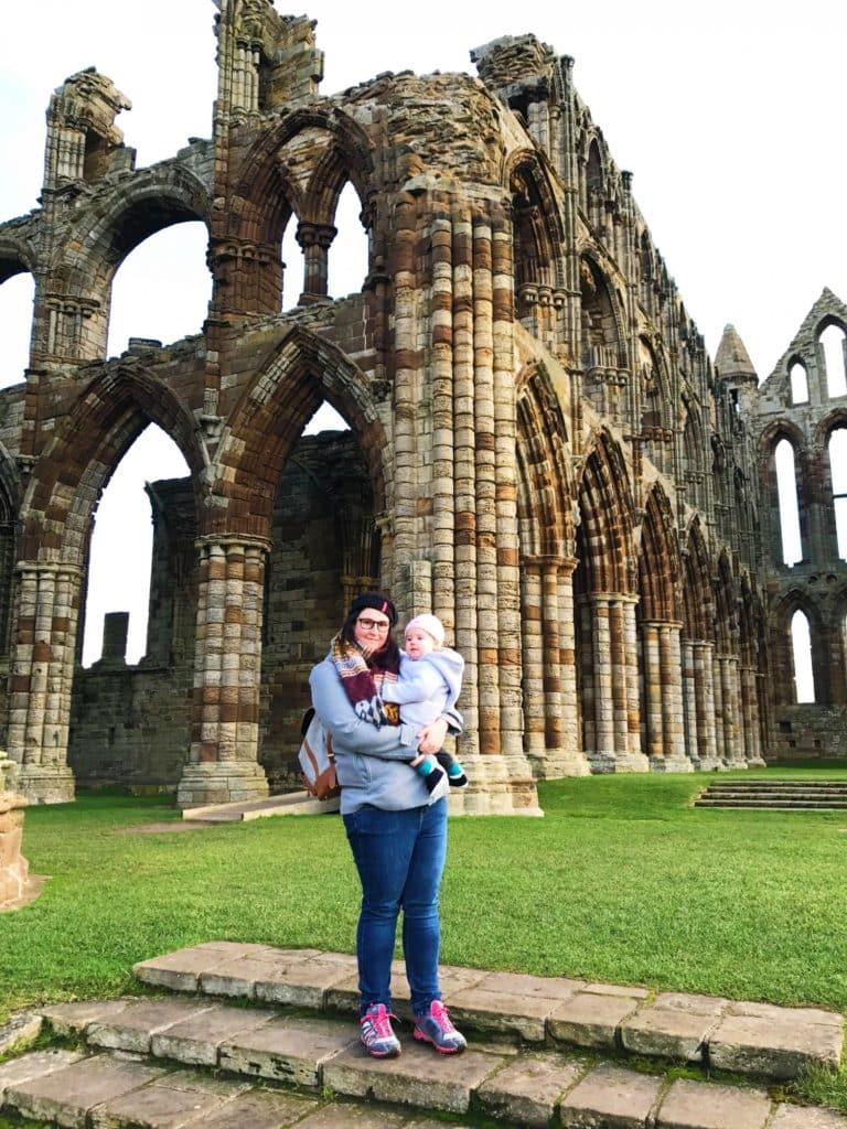 Avery and Dannii at Whitby Abbey