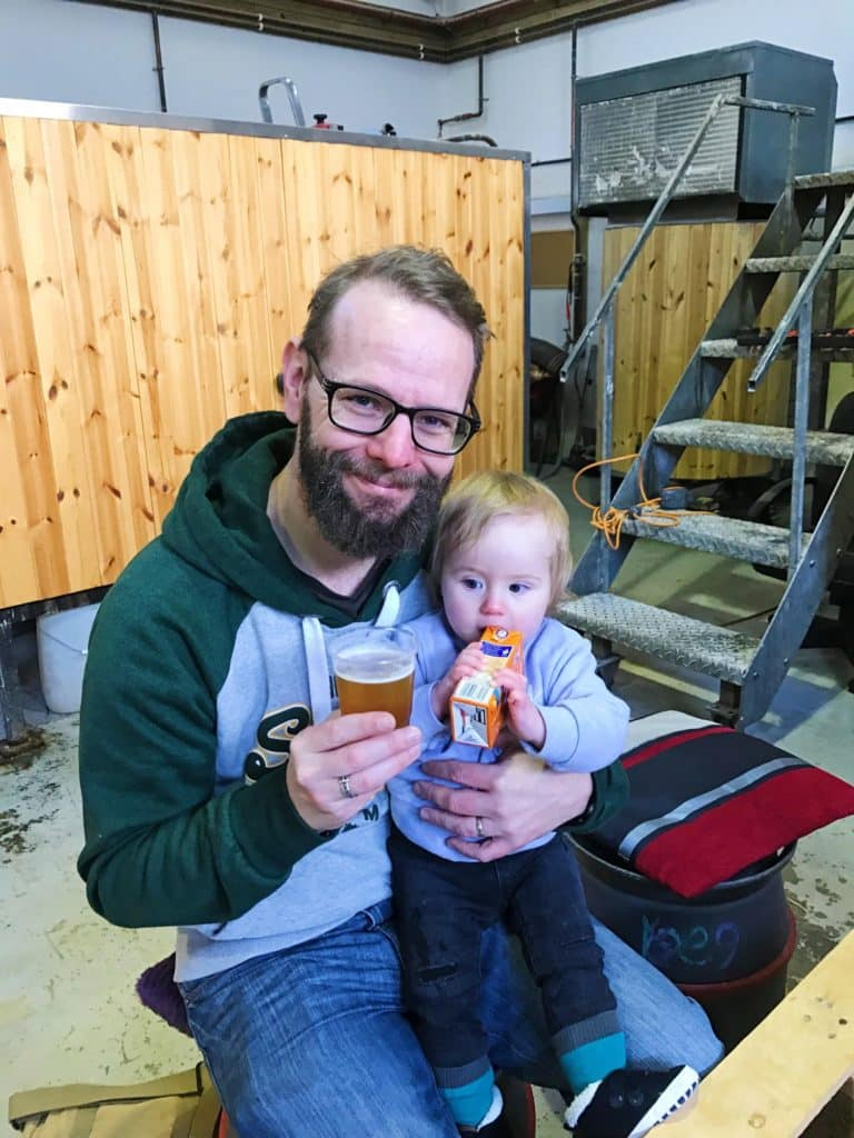 Dave and Avery in Whitby Brewery