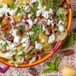 Landscape shot of Mediterranean Potato Salad