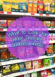 What to Look for when Choosing Children's Snacks title picture