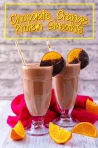 Chocolate Orange Protein Smoothie title picture