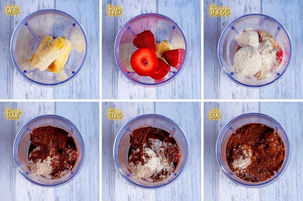 Chocolate Orange Protein Smoothie step by step