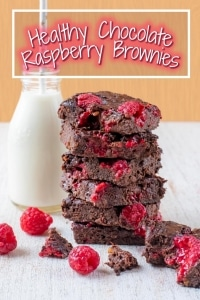 Healthy Chocolate Raspberry Brownies title picture