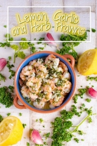 Lemon, Garlic and Herb Prawns (shrimp) title picture