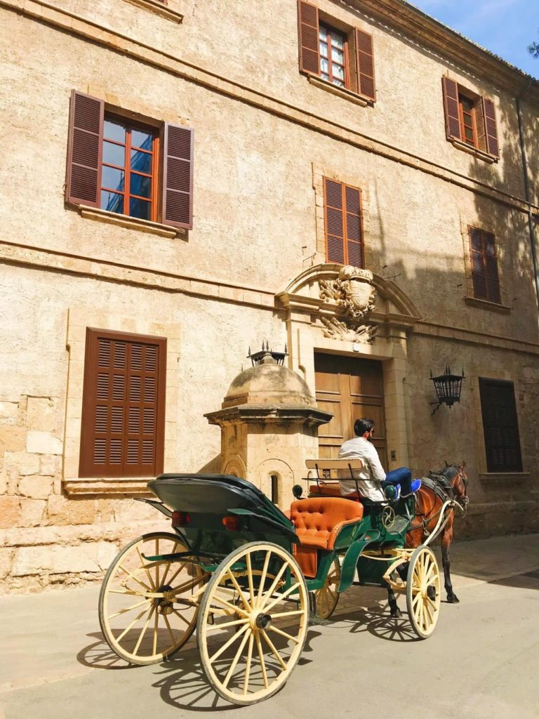 Horse and carriage outside Palma Cathedral