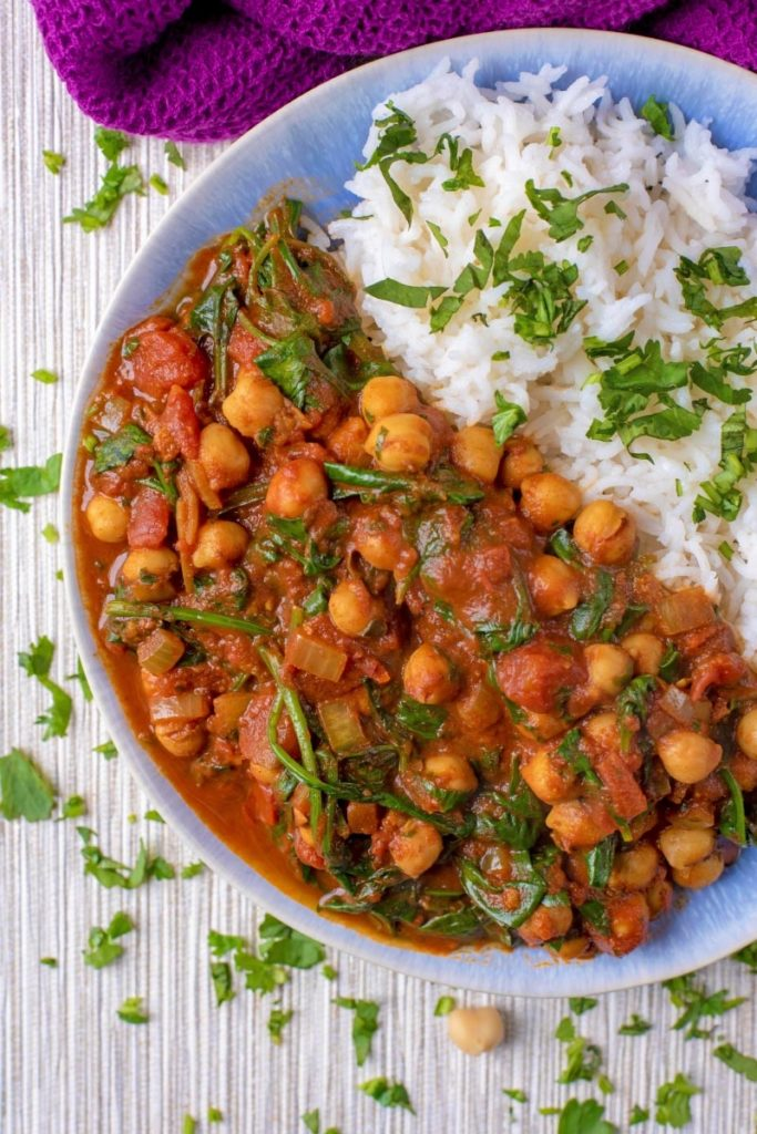 10 Minute Chickpea And Spinach Curry Quick Easy And Full