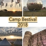 a collage of camp bestival moments