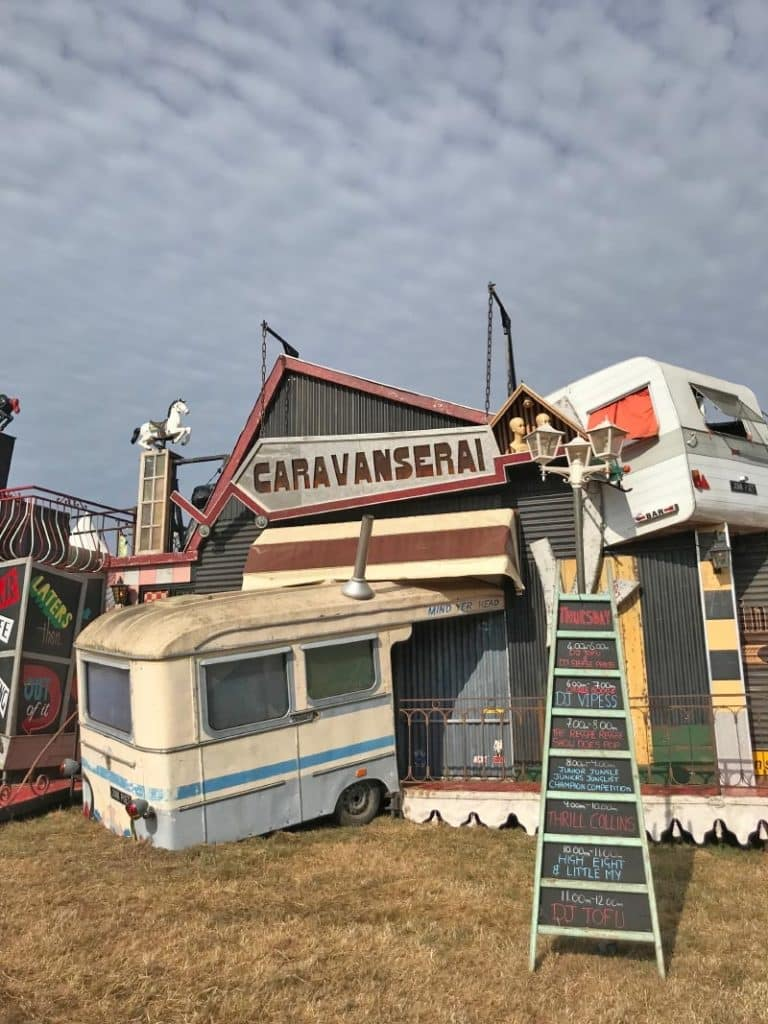 The entrance to caravanserai at camp bestival