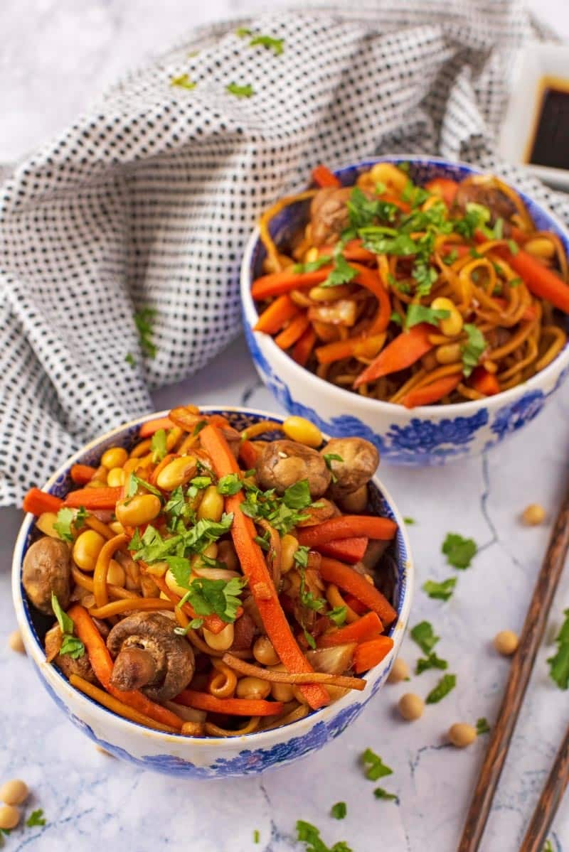 Tefal ActiFry Chinese Noodles in oriental style bowls