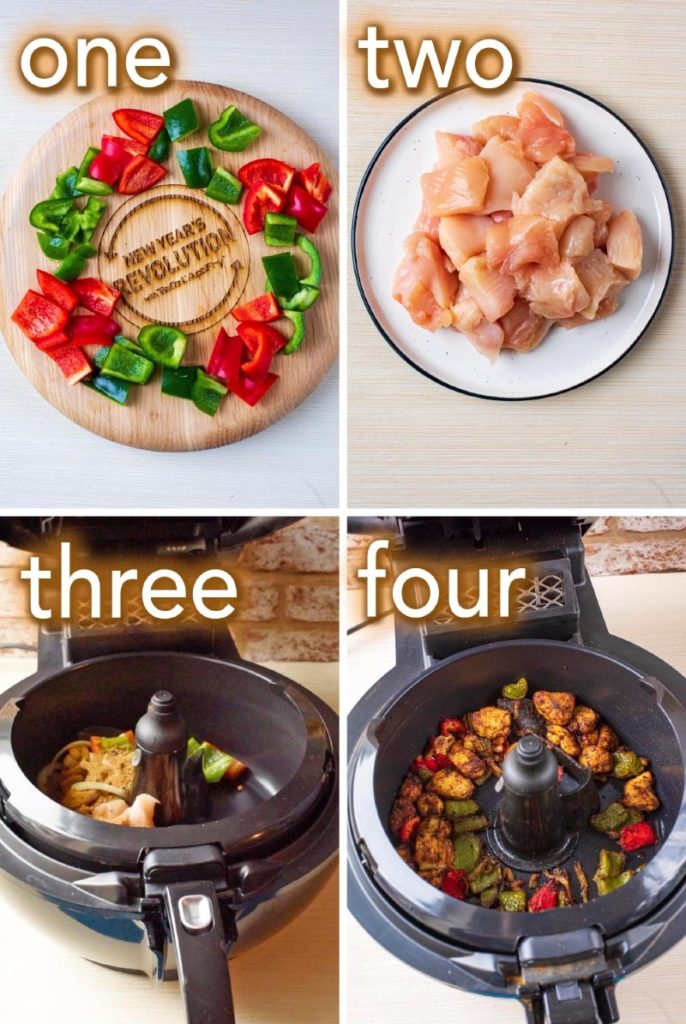 Step by step process to making Air Fryer Chicken Tikka