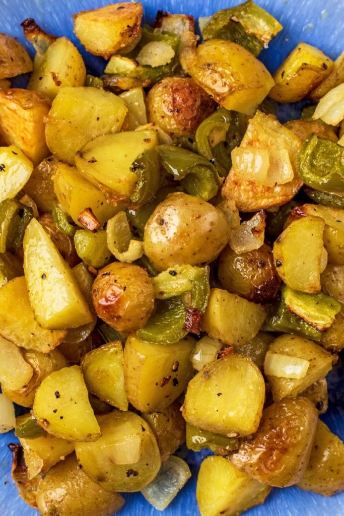 Baked Home Fries with onions and green pepper