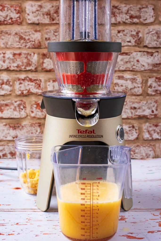 A fruit juicer with Immune Booster Juice