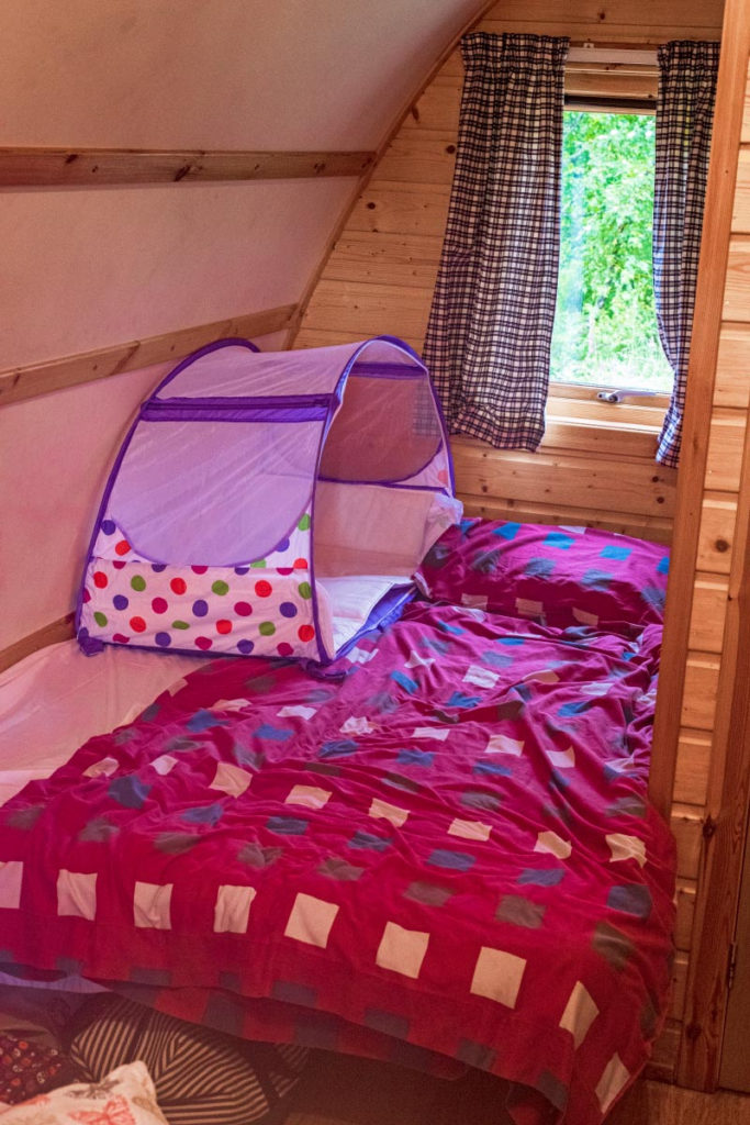 Double bed in a wigwam