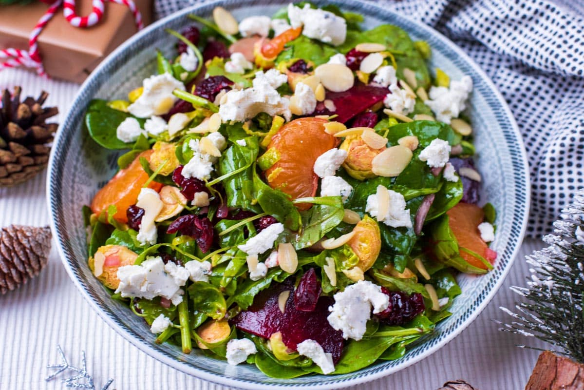 Easy Christmas Salad - Hungry Healthy Happy