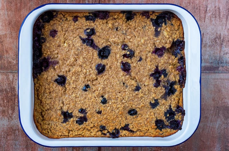 Easy Baked Oats in a large baking dish