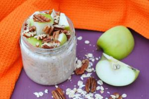 Apple, Maple and Pecan Overnight Oats