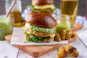 Chicken Pesto Burgers