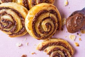 Chocolate and Banana Pinwheels