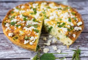 Courgette, Mint and Feta Frittata