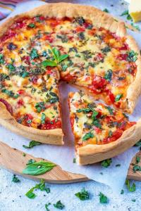 Healthier Chicago Deep Dish Pizza