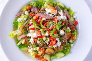 Spicy Steak and Roasted Potato Salad