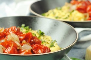 Creamy Polenta with Roasted Tomatoes