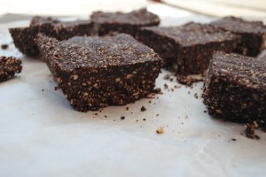 Healthy Chocolate Orange Brownie Squares