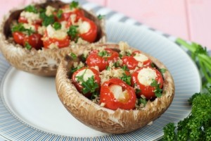 Pepper Stuffed Mushrooms